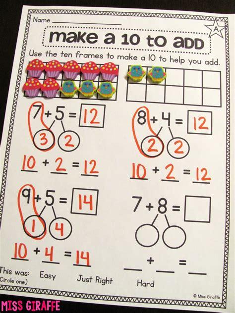make a worksheet miss giraffe s class a 10 to add