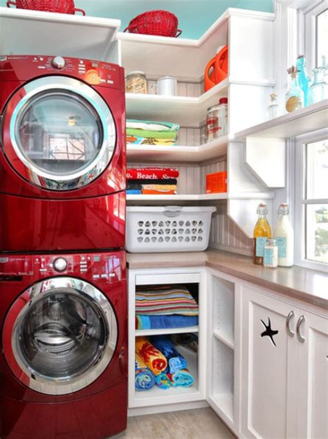 Five Great Ideas For A Reved Laundry Room Space Saving Laundry