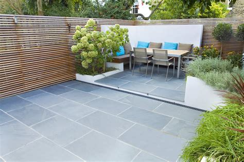 Small Modern Garden Ideas Contemporary Small Family Garden Designers In Clapham Sw4 Slate Paving By Garden Builders