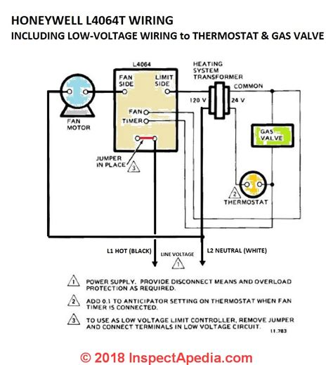 how to install wire the fan limit controls on furnaces