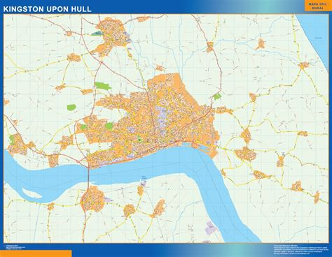 map of kingston upon hull our kingston upon hull wall map wall maps mapmakers