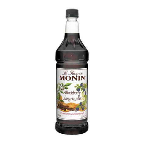 Monin Blackberry 700 Ml Cafe Coffee Original Syrup monin blackberry sangria syrup plastic