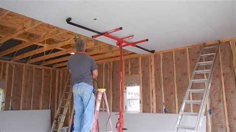 Sheetrocking A Ceiling by Garage Build Part 4 Electrical Insulation Sheetrock Rainbows
