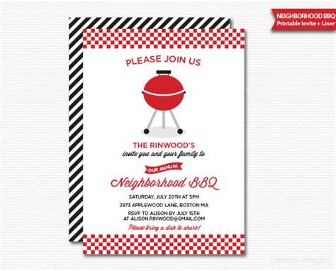 Invitation Letter Neighborhood Neighborhood Bbq Invitation Neighborhood Block Printable Barbeque Invite