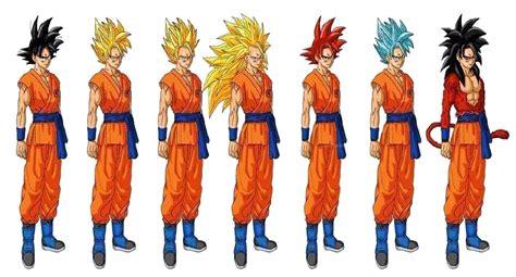 Imagenes De Goku Todas Las Transformaciones | mis dibujos de las transformaciones de goku im 225 genes