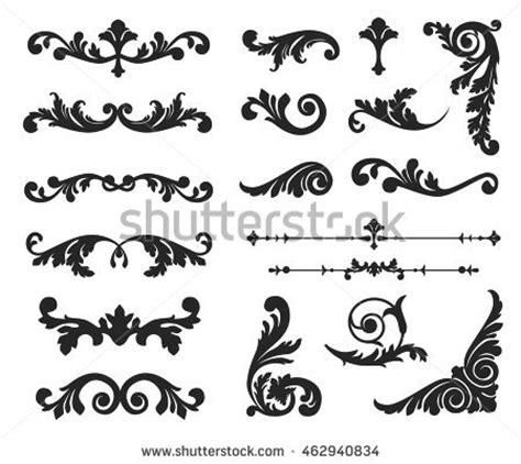 border decorative vintage elements ornate scroll decorative design elements vintage stock
