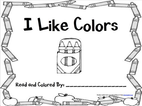 more images of color book for preschool kindergarten