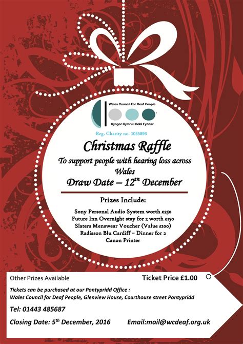 images of christmas raffle tickets support our christmas raffle