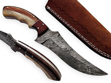 Handmade Skinning Knives - damascus knife handmade skinning knives sk 11