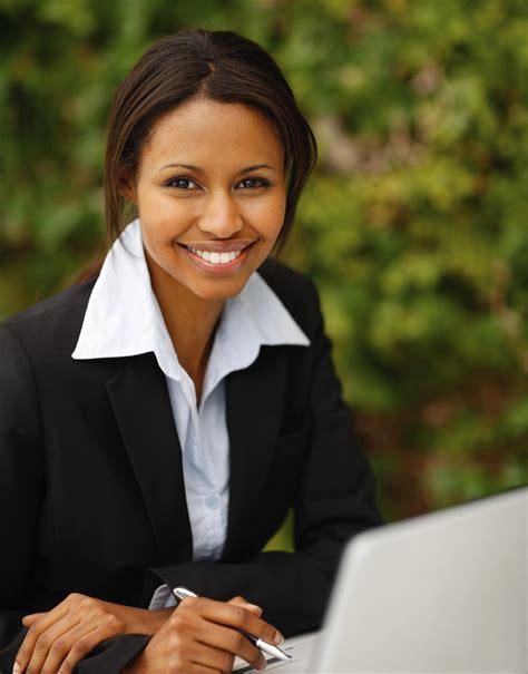 Black African American Business Women | confident happy young african american business woman flickr