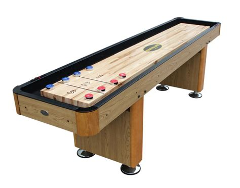 table shuffle board berner billiards 9 foot shuffleboard table quot the standard