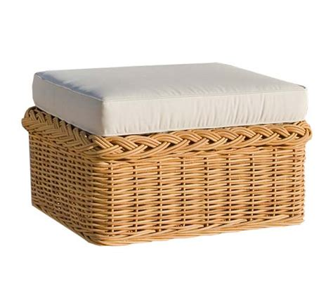 Outdoor Furniture Ottoman Chair Ottoman Wicker Material Outdoor Furniture The Wicker Works