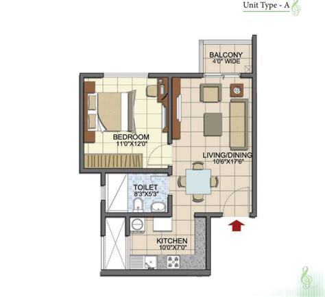 1 bhk floor plan 1 bhk apartments in prestige song of the south