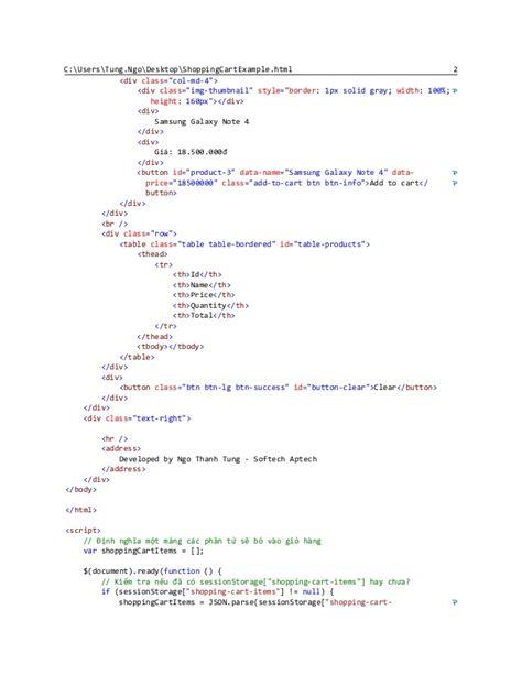 javascript html template shopping cart exle html javascript