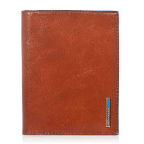 porta passaporto porta passaporto piquadro blue square in vera pelle