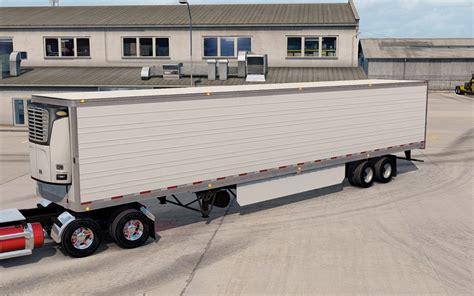 trailer white white trailer reefer 3000r mod american truck