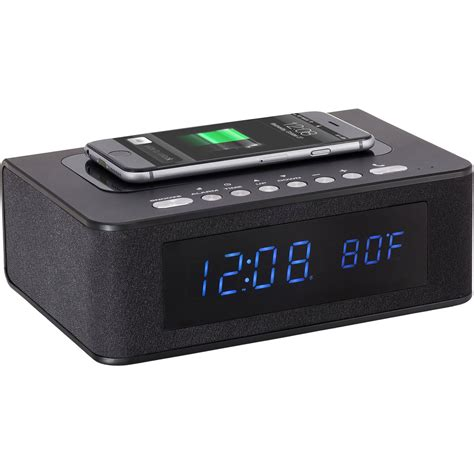sxe electronics bluetooth speaker wireless charging sxe87005 b h