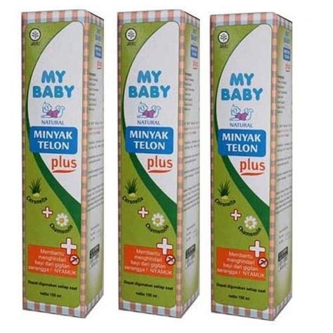 My Baby M Telon Plus 150ml my baby minyak telon plus 150ml 3pcs deals for only rp103