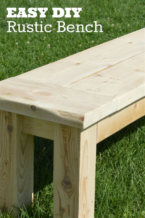 super easy rustic bench home improvement ideas