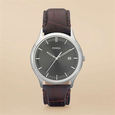 Jam Tangan Fossil Chro 03 Krem Leather 95 this simple by fossil time waits for no