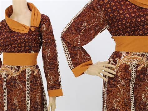 Baju Batik Murah 088 2 jual baju muslim batik model terbaru murah dress batik elegan grosir batik nitnot
