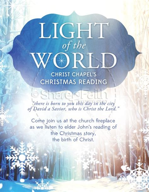 light of the world christmas flyer template flyer templates