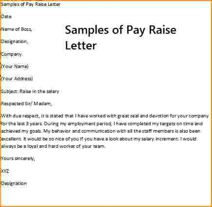 request letter salary increment pdfsalary increase