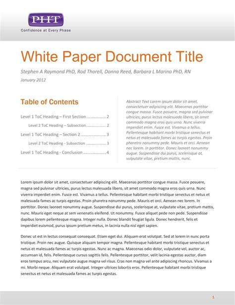 White Paper Template Madinbelgrade Writing A White Paper Template
