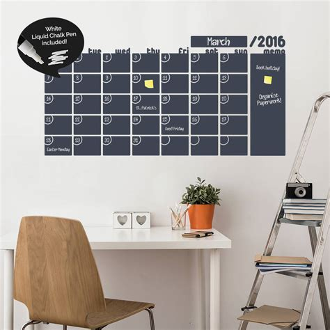 erase wall stickers monthly calendar write and erase wall sticker by sirface