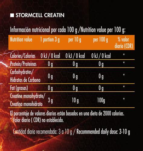 define creatine o stormcell monohidrato de creatina