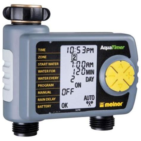 melnor automatic 2 outlet hose timer 557 869 the home depot