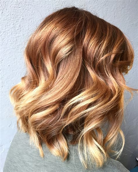 blonde and copper hairstyles light copper to blonde balayage hair colors cut and