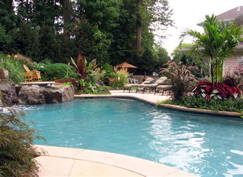pool landscaping designs luxury swimming pool spa design ideas outdoor indoor nj