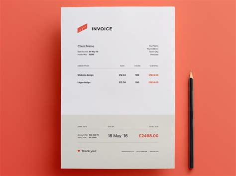 indesign invoice template for your personal thoughts best 20 invoice design ideas on invoice