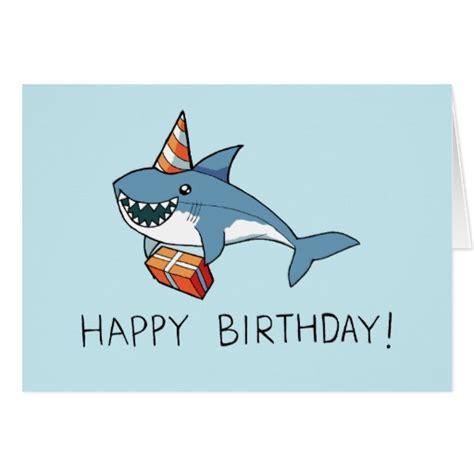 Shark Birthday Card Happy Birthday Shark Card Zazzle