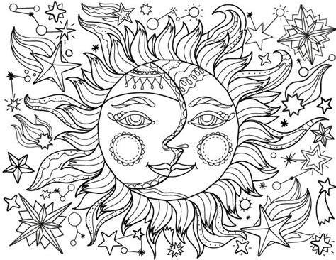 coloring page of sun and moon 2867 best adult coloring therapy free inexpensive