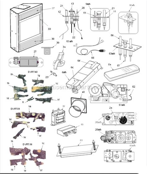 majestic dvrt36 parts list and diagram ereplacementparts