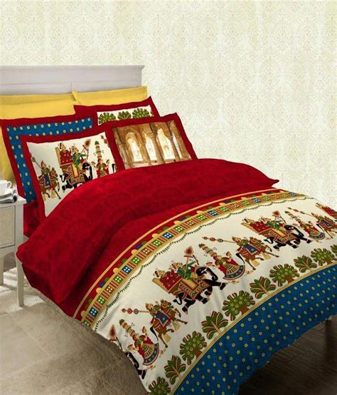 bombay dyeing bed sheets bombay dyeing celebration india red blue cotton double