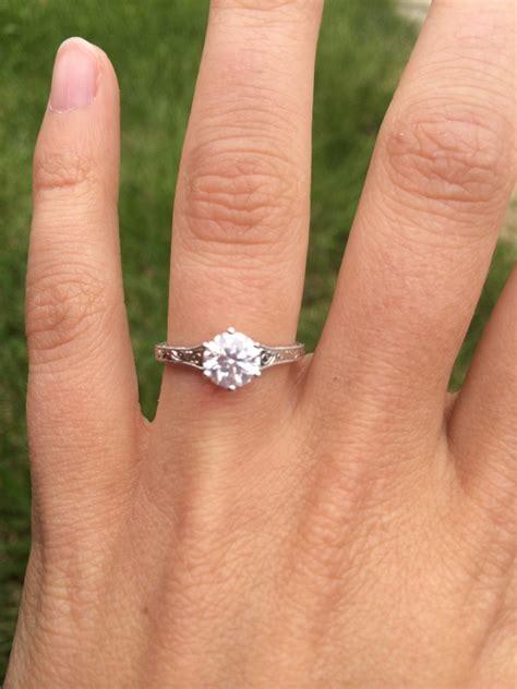 My Brilliant Earth Hudson Ring!   Weddingbee