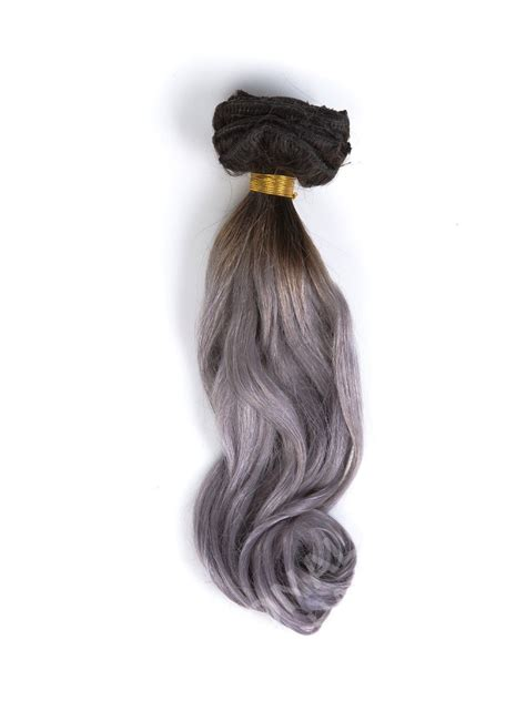 ombre clip in hair extensions black to silver ombre clip in hair extensions cd007 clip in donalovehair