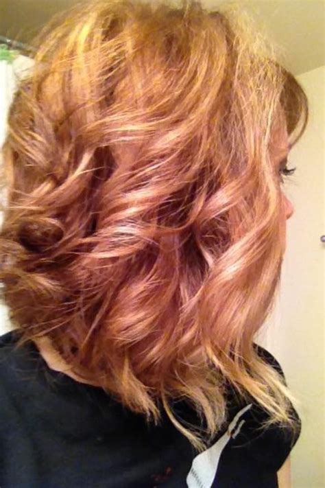 pictures of blonde highlights and lowlights curly copper lowlights blonde highlights curly swing bob hair