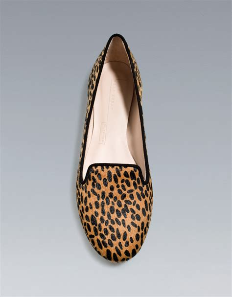 zara slipper shoes zara leopard slipper in lyst
