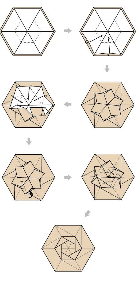 Hexagonal Box Origami - 25 best ideas about hexagon box on display