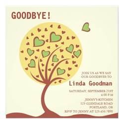 tree farewell invitation 5 25 quot square invitation card zazzle