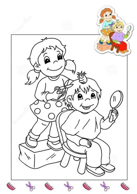 hairdresser coloring pages hairdresser coloring page 171 preschool and homeschool