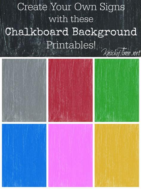 chalkboard printable backgrounds  tutorial     custom colors knick  time