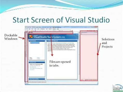 tutorial visual studio basic visual studio tutorial part 1 overview and layout