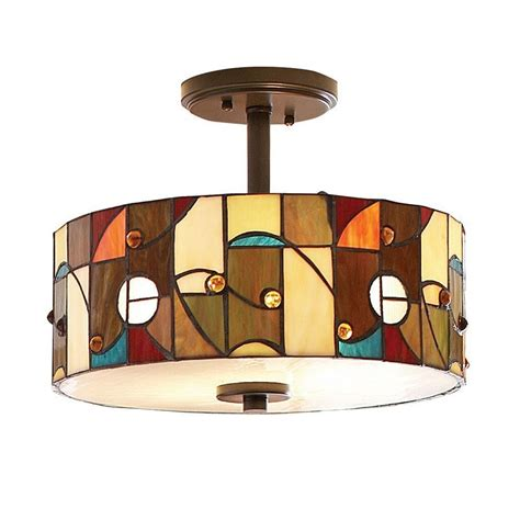 Style Semi Flush Ceiling Light by Allen Roth Drakeston 13 In W Style Semi Flush