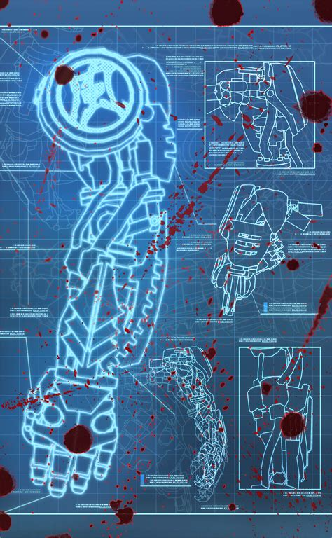 Log Home Blueprints cybernetic arm video games artwork