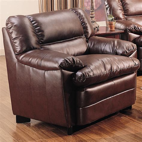 overstuffed leather sofa coaster furniture 501913 overstuffed leather chair